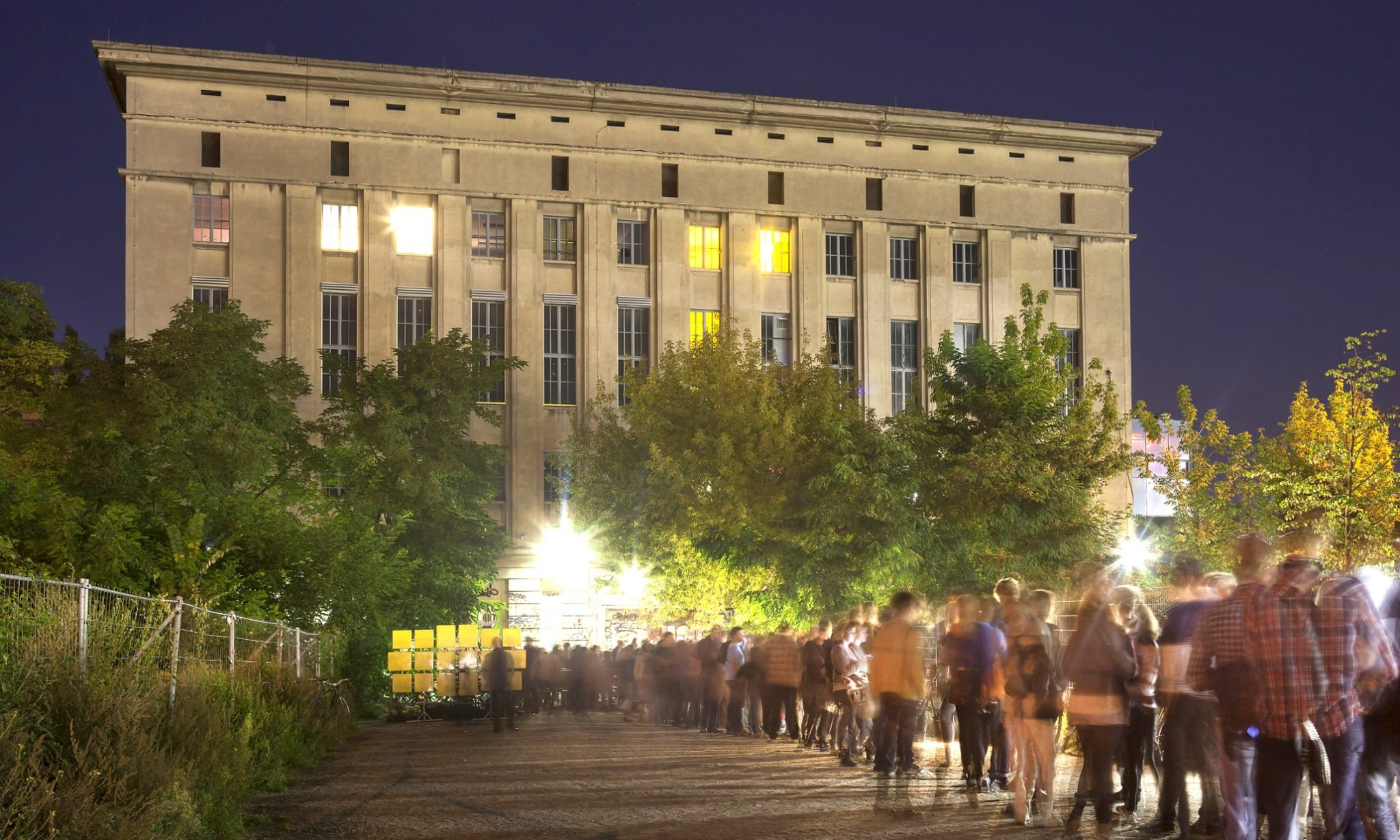 Mandatory Credit: Photo by Image Broker/REX (2227351a) Berghain Club with queue, Berlin, Germany VARIOUS