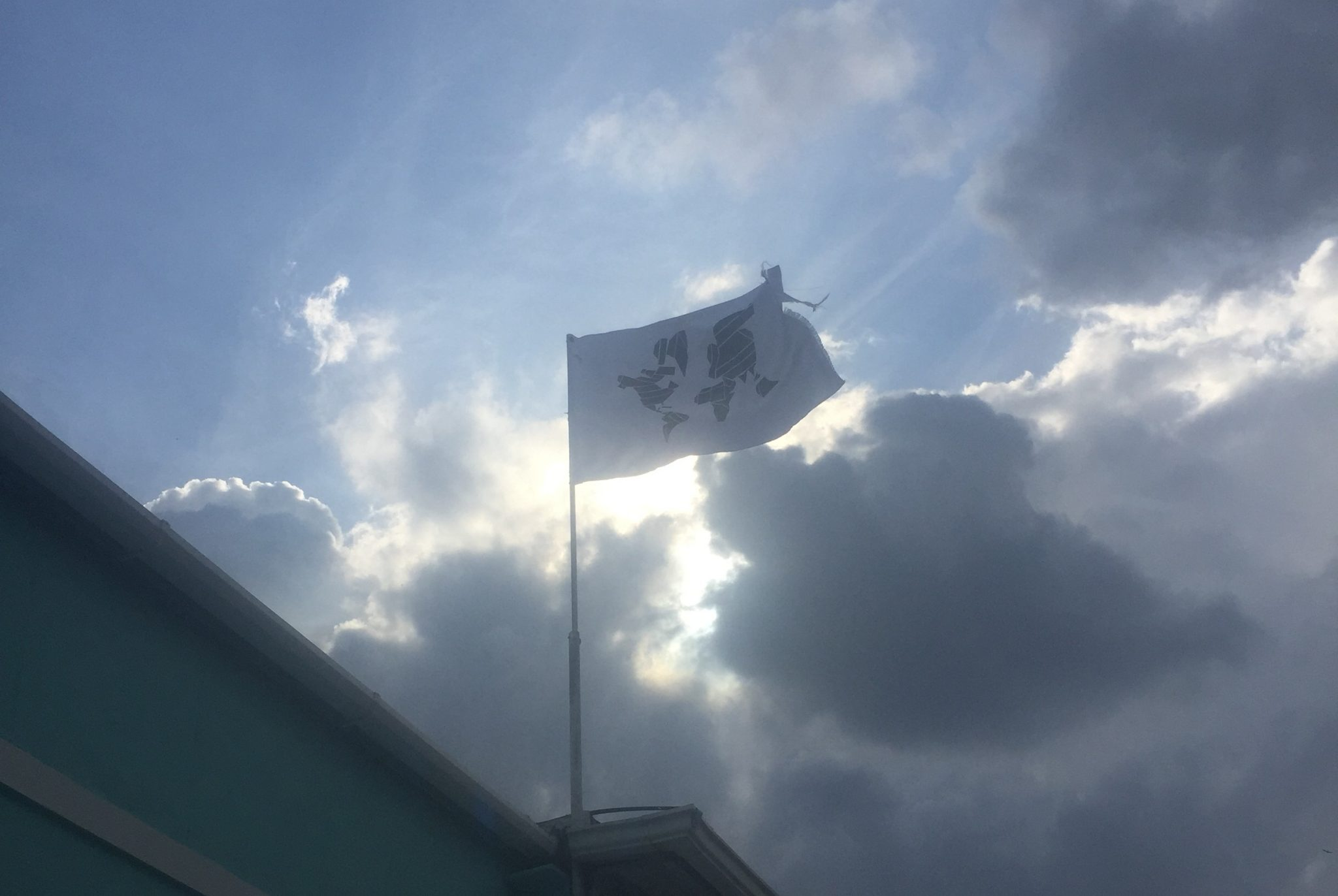 The Crosstown Rebels flag flying high at Get Lost Miami
