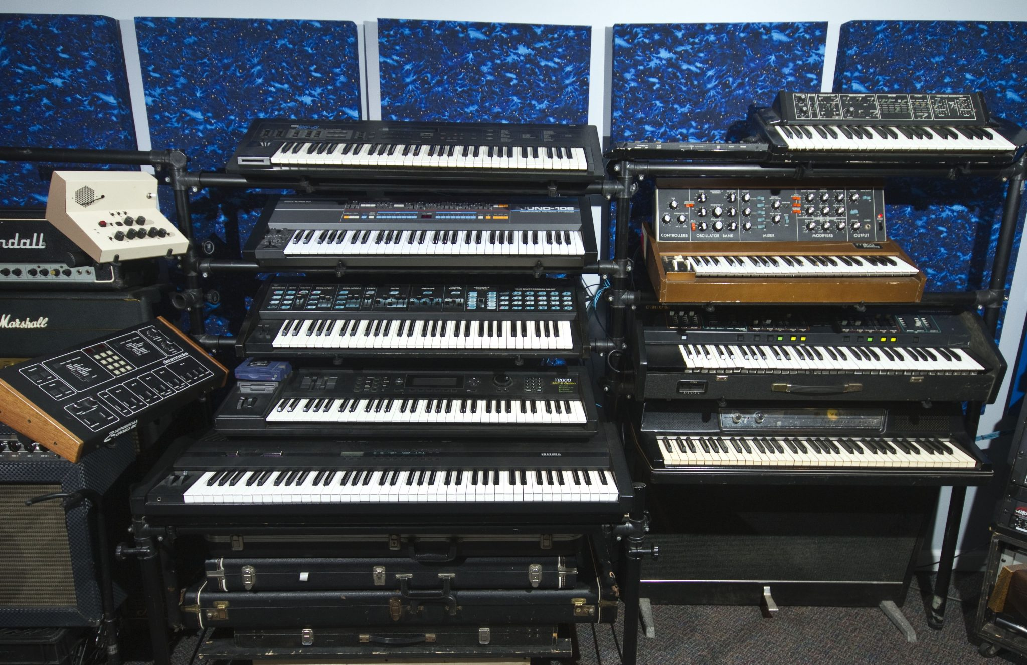 vintage synth stacks