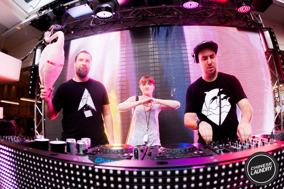 Part of the Dirtybird crew. Photo courtesy of Chinese Laundry