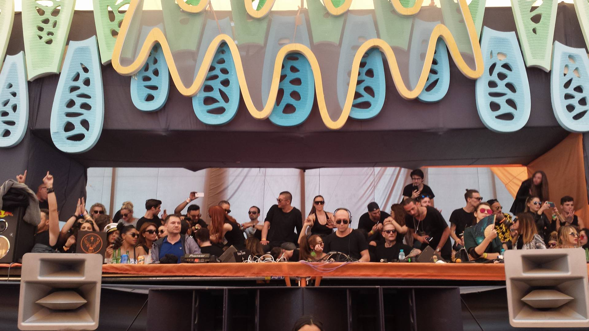 Marco Carola playing Sunwaves earlier today. Photo courtesy of Beatrice