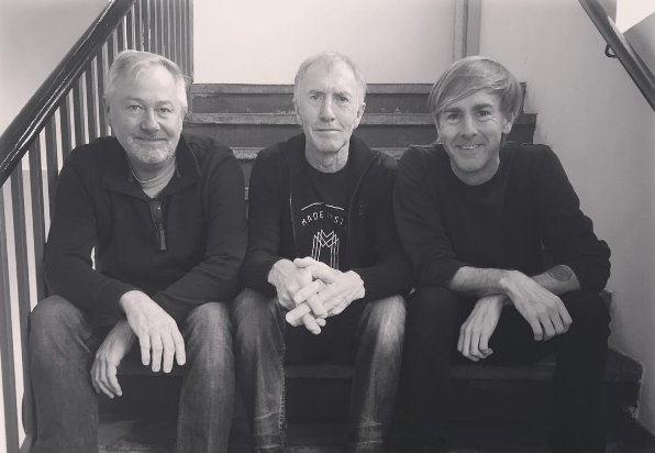 Richie Hawtin, his father and Andy Riby-Jones before the unveiling of PLAYdifferently's Model 1. Photo courtesy of Richie Hawtin via Instagram