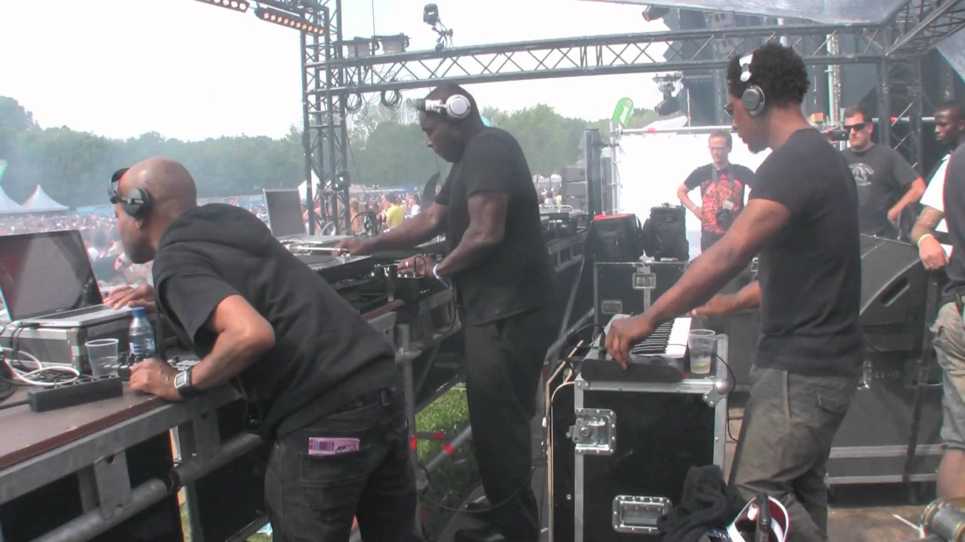 Belleville Three in action at Awakenings 2010, Amsterdam