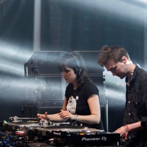 Ben UFO and Helena Hauff going back-to-back at Sonar, Barcelona