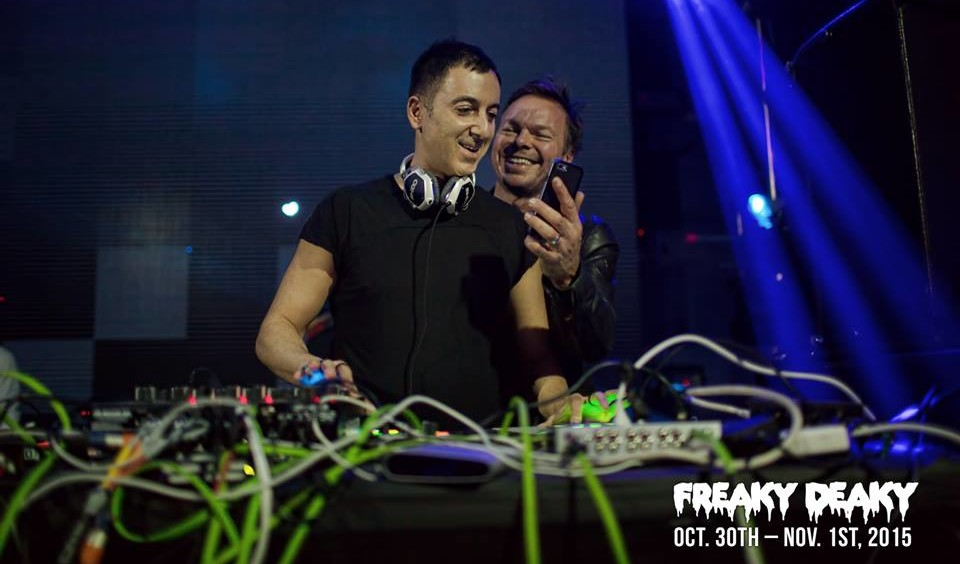 Dubfire and Pete Tong at last year's Freaky Deaky. Photo by Da Black Swan.