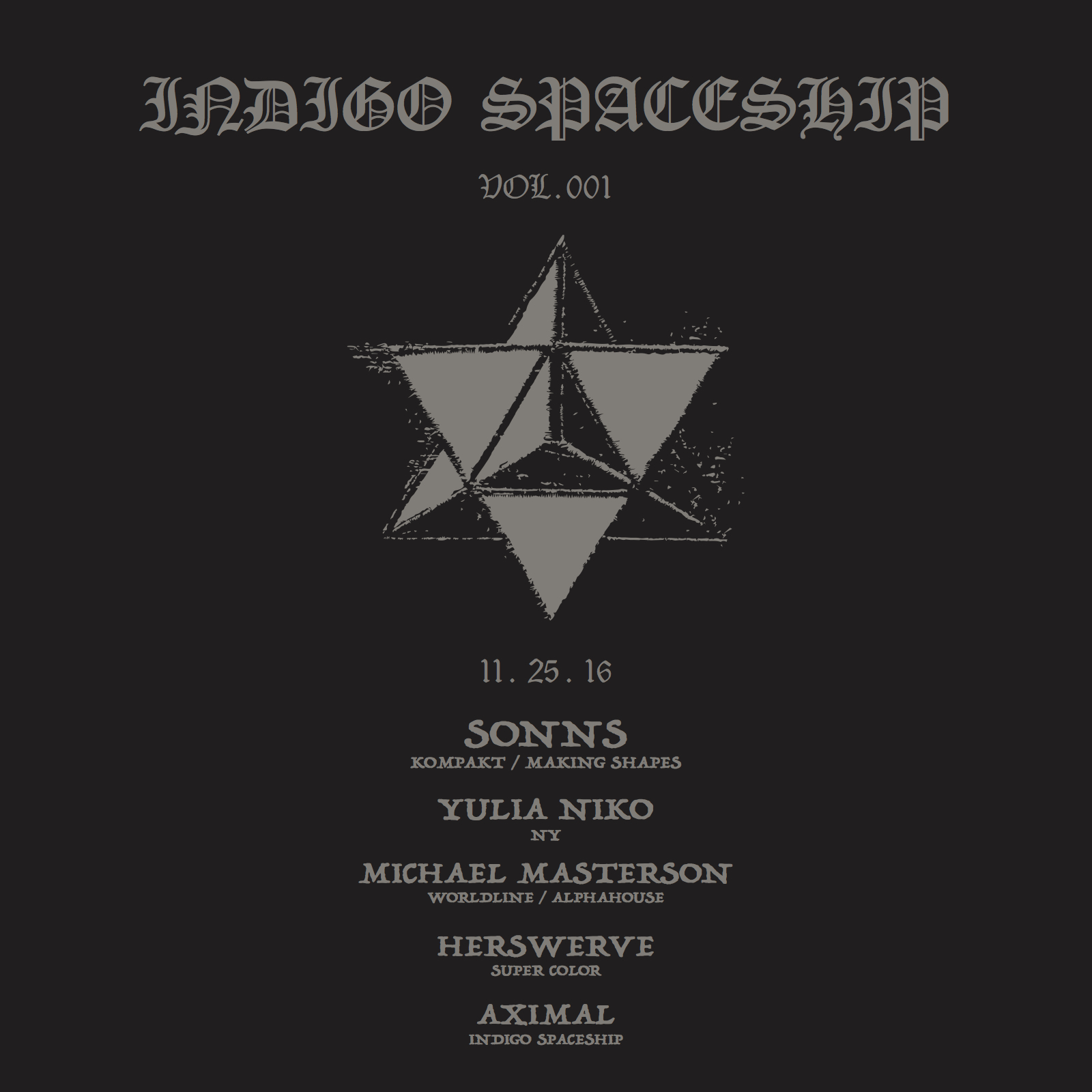 INDIGOSPACESHIP- Vol.001
