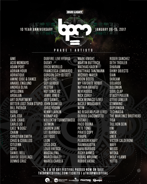 The BPM Festival Phase 1 2017
