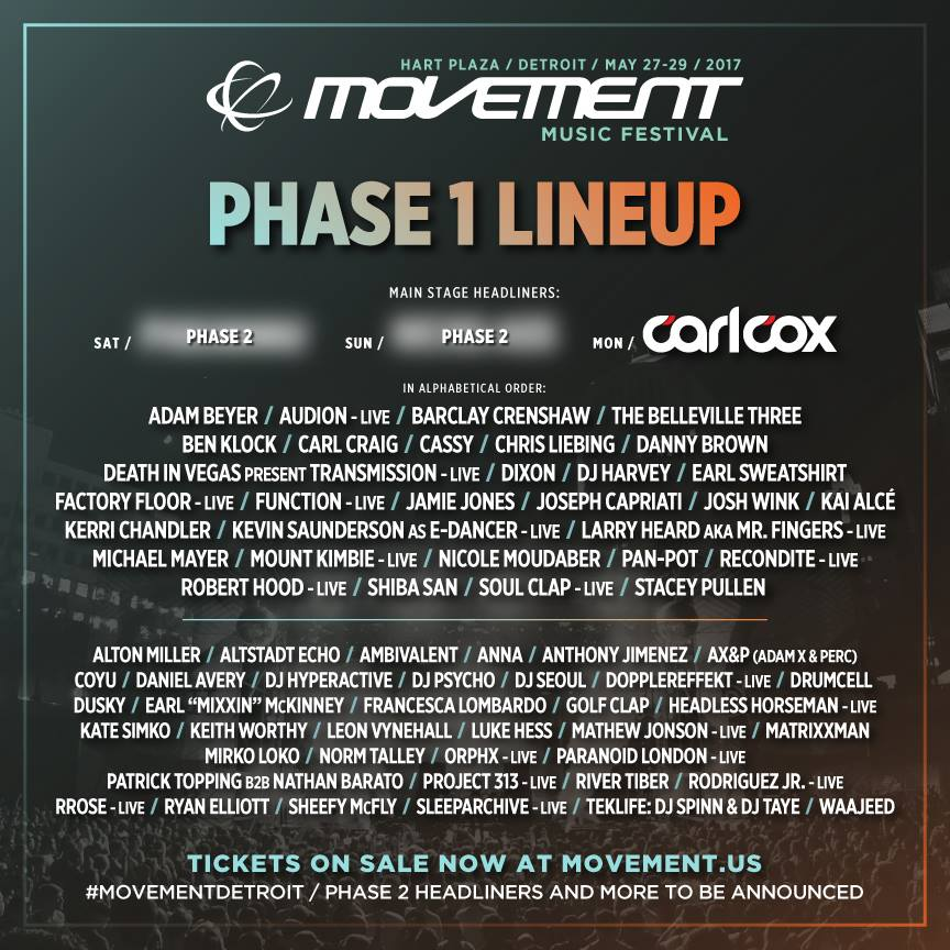 Movement 2017 lineup