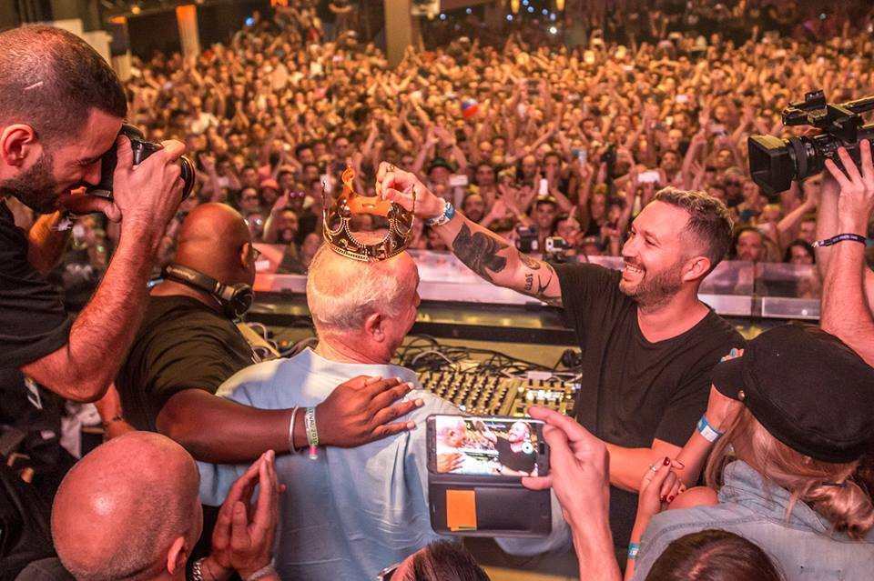 Carl Cox and Nic Fanciulli crown Pepe Rosello as the true king of Ibiza's nightlife during the last minutes of the club's Closing Fiesta 2016