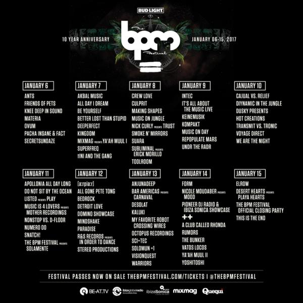 The BPM Festival Showcases