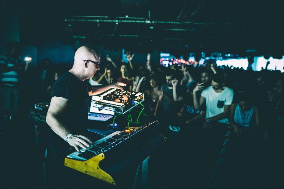Stephan Bodzin's Live Setup - Photo by Alban Gendrot