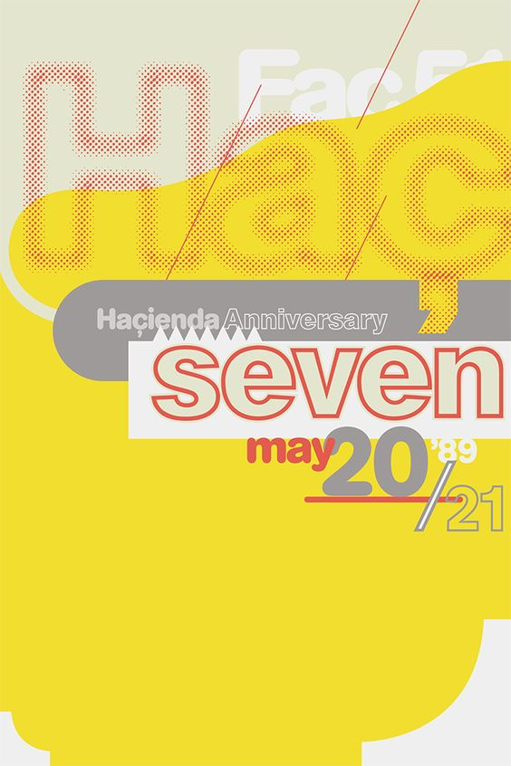 Hacienda 1989 7th Anniversary flyer