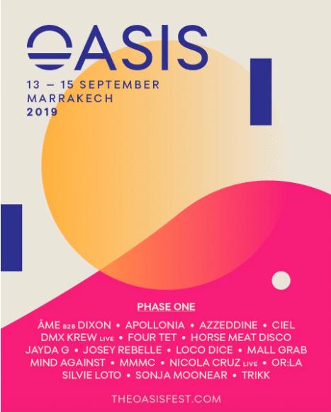 Oasis Festival Returns in 2019 with Four Tet, Âme b2b Dixon