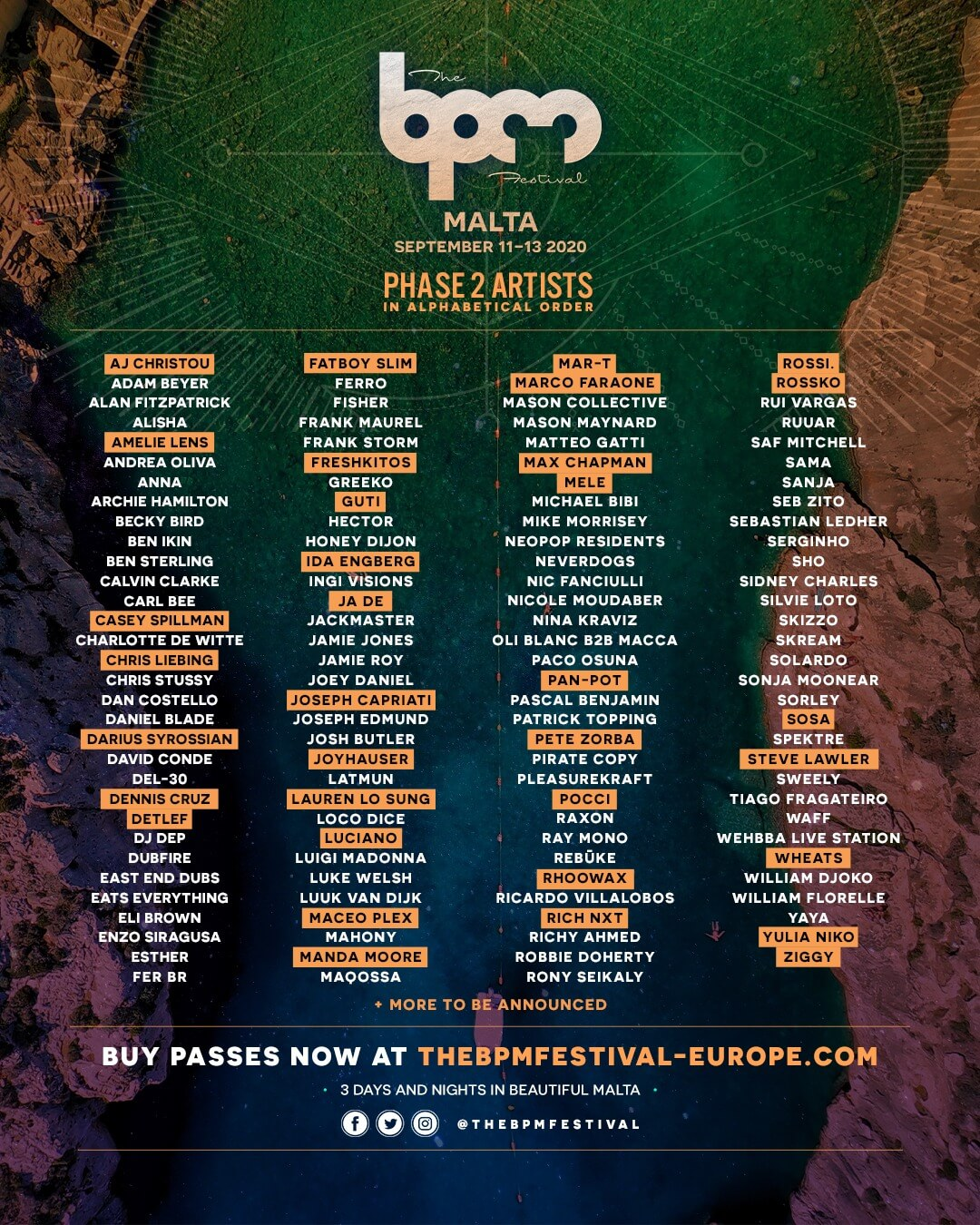 The BPM Festival Malta is looking to attract thousands of party-goers with this massive lineup