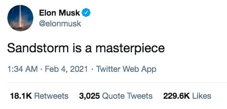 Elon Musk Sandstorm