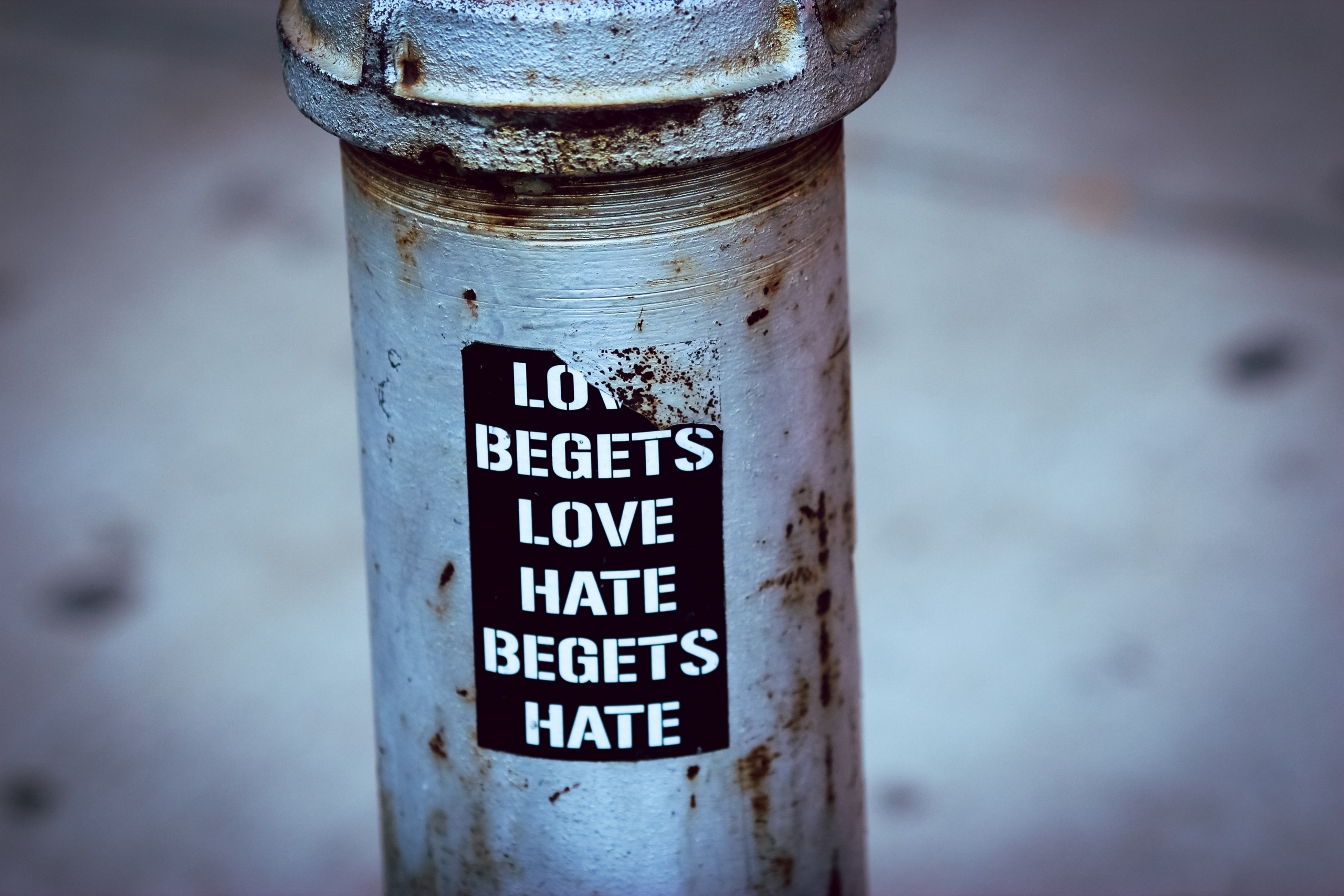 Hate Cannot Dispel Hate