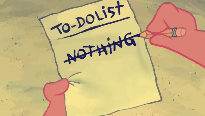 time doing nothing