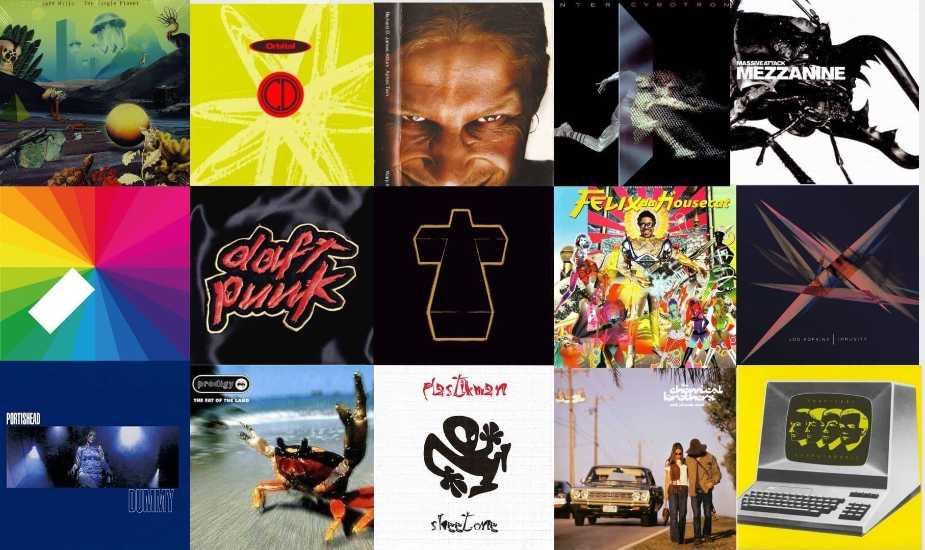 iconic electronic album covers