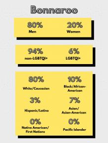 Bonnaroo Lineup Diversity Statistics