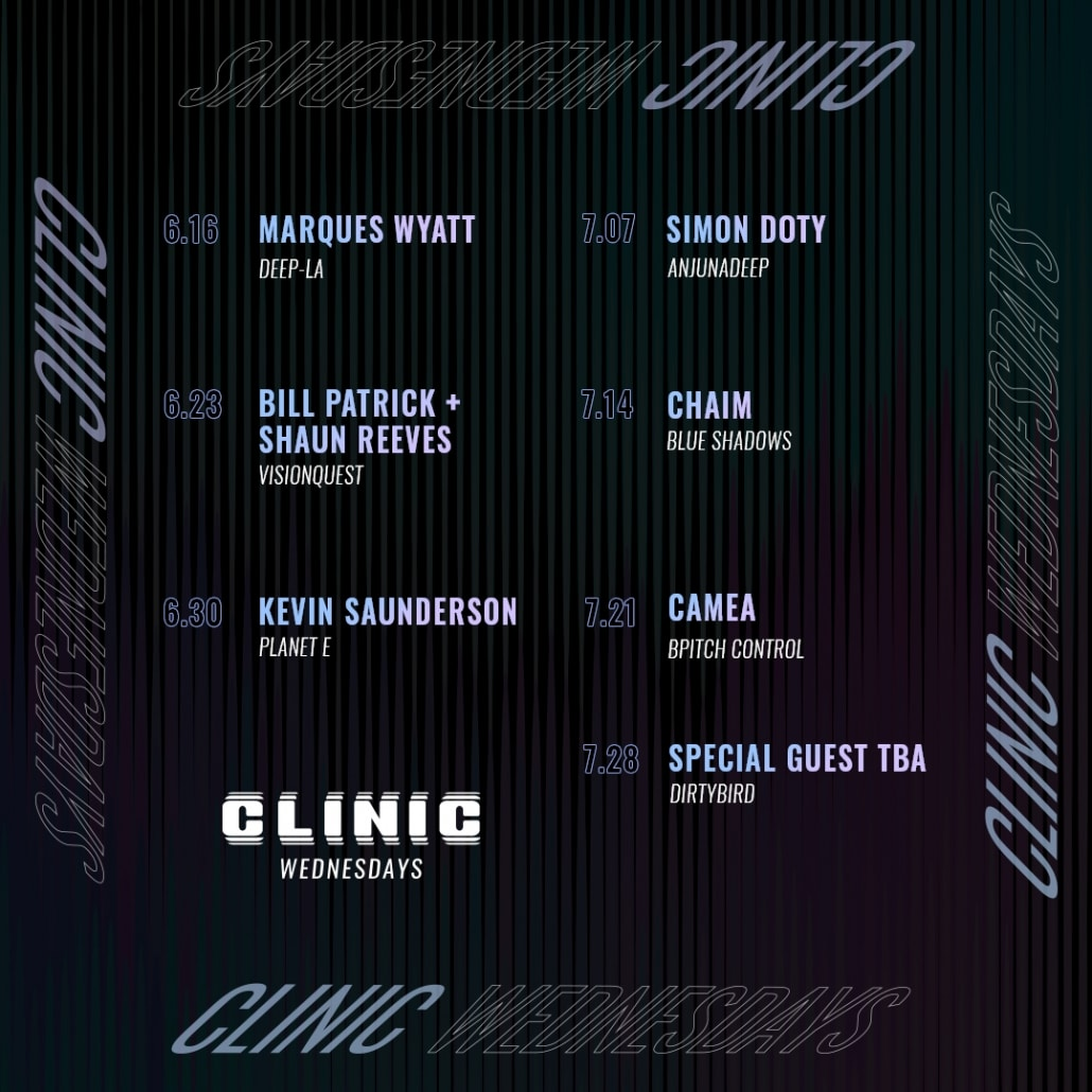 Clinic Wednesdays June and July