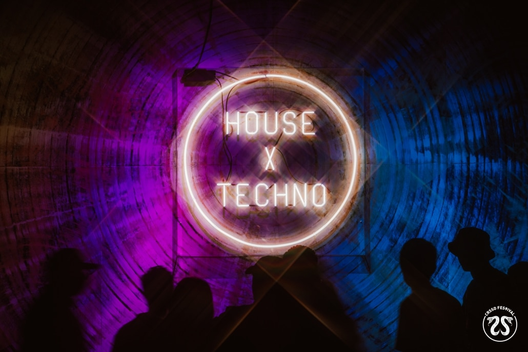 House x Techno wall at CRSSD